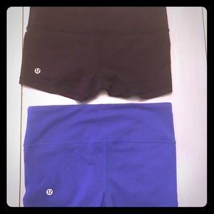 2) Lululemon Wunder Shorts Sz 4
